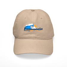 Pensacola Beach FL - Waves Design Cap