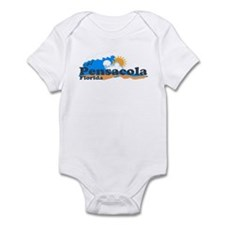 Pensacola Beach FL - Waves Design Infant Bodysuit
