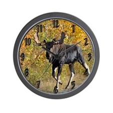 Bull walking Wall Clock