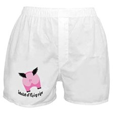 BEWARE OF FLYING PIGS Boxer Shorts