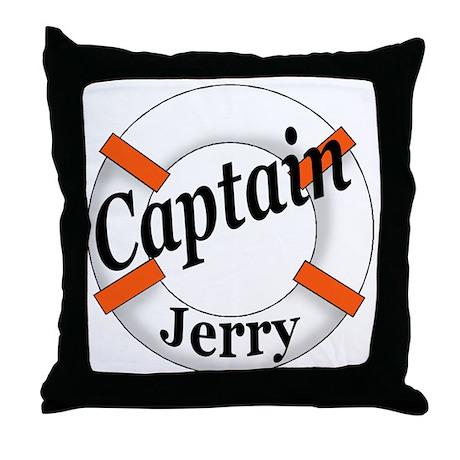 CAPTAIN JERRY Throw Pillow