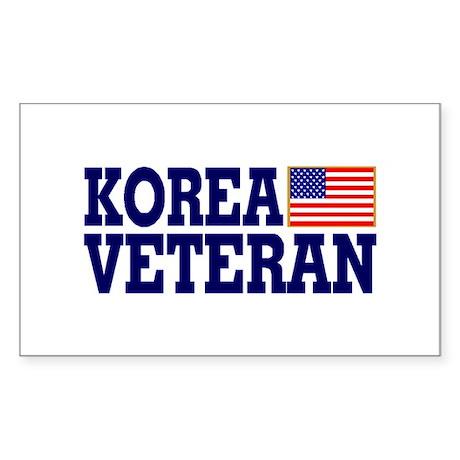 KOREA VETERAN Rectangle Sticker