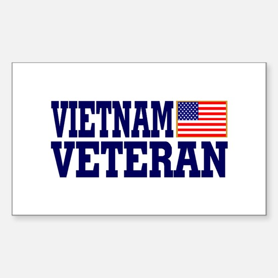 VIETNAM VETERAN Rectangle Decal