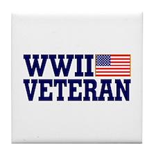 WWII VETERAN Tile Coaster