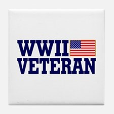 WWII VETERAN Tile Coaster