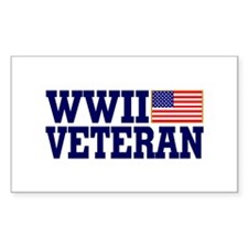 WWII VETERAN Rectangle Decal