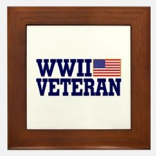 WWII VETERAN Framed Tile