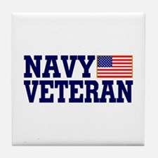 NAVY VETERAN Tile Coaster