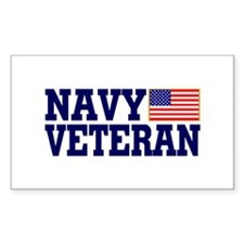 NAVY VETERAN Rectangle Decal
