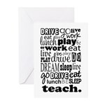 Teacher's Life Greeting Cards (Pk of 10)