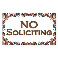 No Soliciting Dogs Rectangle Decal