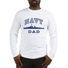 Navy Dad Long Sleeve T-Shirt