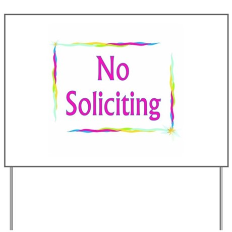 Rainbow No Soliciting Yard Sign