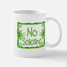 Green No Soliciting Mug