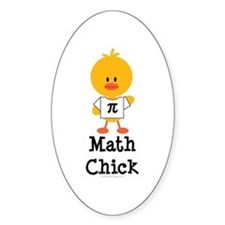 Math Chick Oval Decal