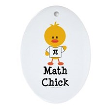 Math Chick Oval Ornament