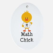 Math Chick Oval Ornament