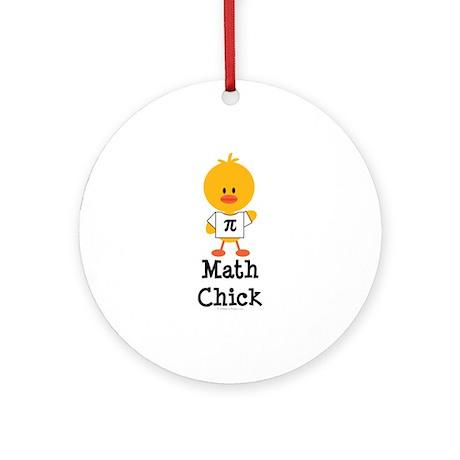 Math Chick Ornament (Round)