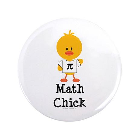 """Math Chick 3.5"""" Button (100 pack)"""