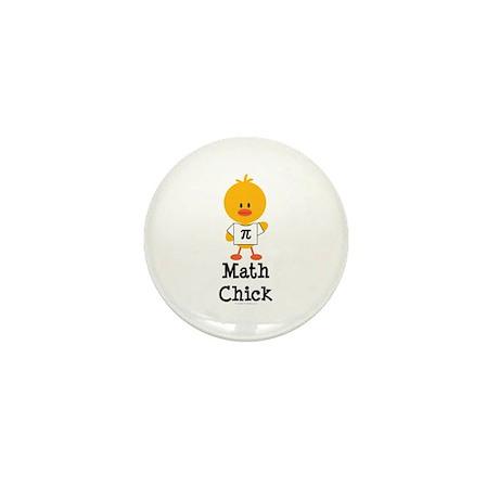 Math Chick Mini Button