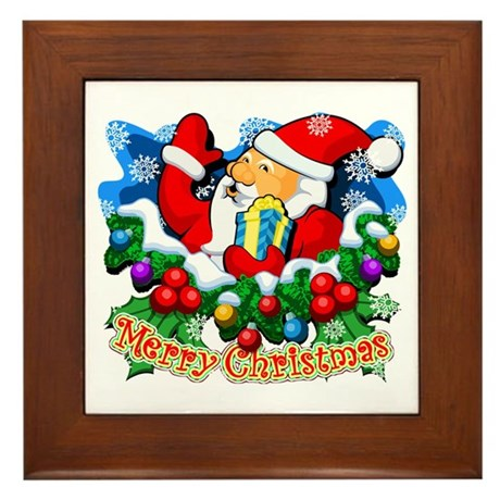 Family Christmas: SANTA Framed Tile