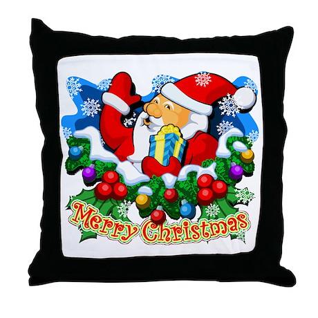 Family Christmas: SANTA Throw Pillow