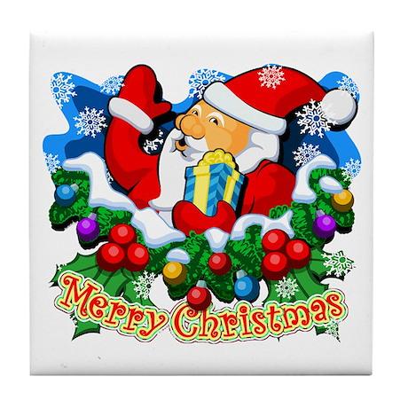 Family Christmas: SANTA Tile Coaster