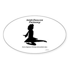 Girl (A) Primary - Oval Decal