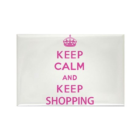 Keep Calm and Keep Shopping Rectangle Magnet