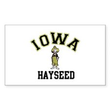 Iowa Hayseed Rectangle Decal