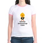 Forensic Anthropology Chick Jr. Ringer T-Shirt
