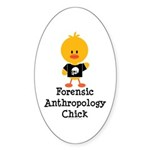 Forensic Anthropology Chick Oval Sticker (10 pk)