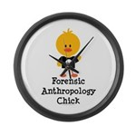 Forensic Anthropology Chick Large Wall Clock