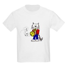 French Horn Cat T-Shirt