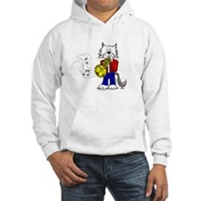 French Horn Cat Hoodie