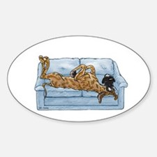 NBr On Couch Oval Decal