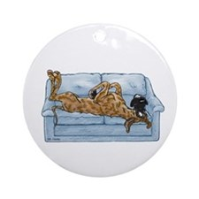 NBr On Couch Ornament (Round)