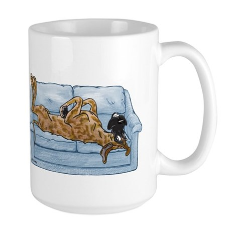 NBr On Couch Large Mug