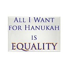 All I Want for Hanukah is Equ Rectangle Magnet (10