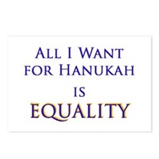 All I Want for Hanukah is Equ Postcards (Package o