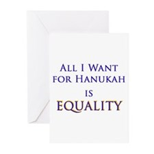 All I Want for Hanukah is Equ Greeting Cards (Pk o