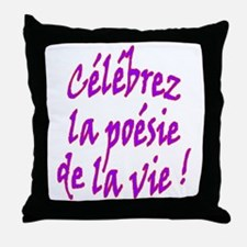 Poetry of Life French Throw Pillow