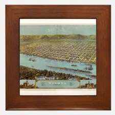 1867 Map of Winona Framed Tile