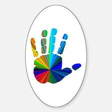 Hand Sticker (Oval)