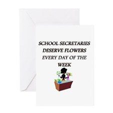 Unique School secretary day Greeting Card