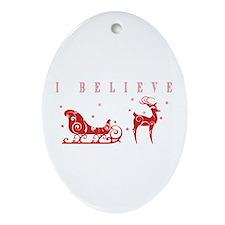 Cute Santa claus Oval Ornament