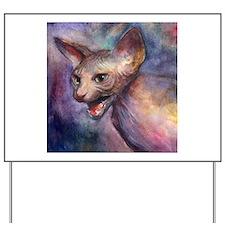 Sphynx Cat 30 Yard Sign