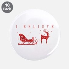 "Cute Rudolph the red nose reindeer 3.5"" Button (10 pack)"