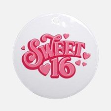 Sweetheart 16 Ornament (Round)