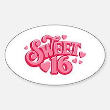 Sweetheart 16 Oval Decal